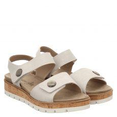 Van Der Laan Veloursleder-Sandalette in silber für Damen