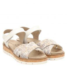 Van Der Laan Veloursleder-Sandalette in grau für Damen