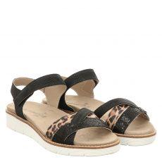 Van Der Laan Nubukleder-Sandalette in schwarz für Damen