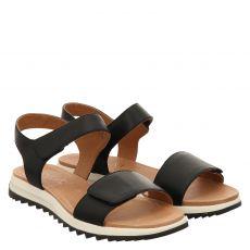 Caprice, Womssandals, Glattleder-Sandalette in schwarz für Damen
