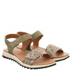 Caprice, Womssandals, Veloursleder-Sandalette in grün für Damen
