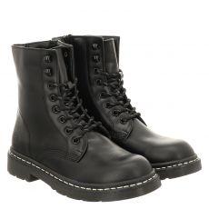 Dockers kurzer Kunstleder-Stiefel in schwarz für Damen