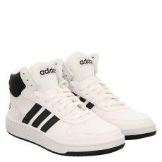 Adidas, Hoops 2.0 Mid, sportiver Kunstleder-Stiefel in weiß für Herren