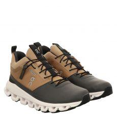 On, Cloud Hi Waterproof, Sneaker in gold für Damen