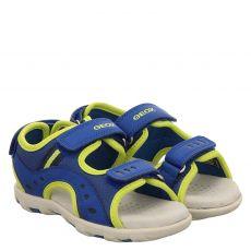 Geox, Jr Sandal Pianeta, Textil-Sandale in blau für Jungen
