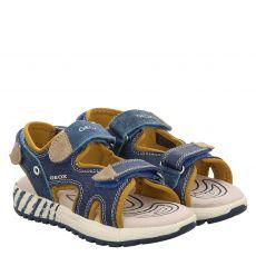 Geox, Jr. Sandal Alben, Textil-Sandale in blau für Jungen
