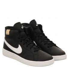 Nike, Nikecourtroyale2midmens, sportiver Glattleder-Stiefel in schwarz für Herren