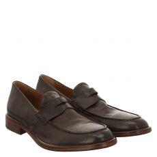 Moma eleganter Glattleder-Slipper in braun für Herren