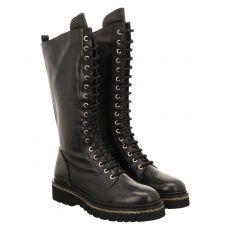 Steffen Schraut, 12 Zip Street, kurzer Glattleder-Stiefel in schwarz für Damen