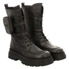 Steffen Schraut, 72 Morrisson Ave, kurzer Glattleder-Stiefel in schwarz für Damen
