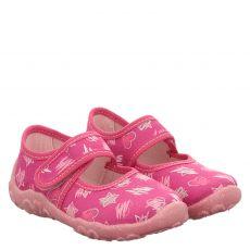 Superfit, Rot, Textil-Hausschuh in pink für Mädchen