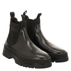 Gant, St. Grip 7b, eleganter Glattleder-Stiefel in schwarz für Herren