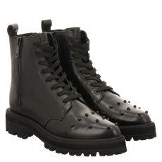 Aigner, Amanda 2e, kurzer Glattleder-Stiefel in schwarz für Damen