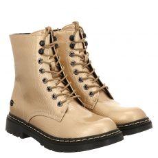 Dockers kurzer Knautschlack-Stiefel in gold für Damen