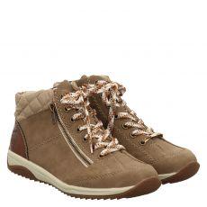 Rieker kurzer Kunstleder-Stiefel in beige für Damen