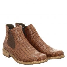 Rieker kurzer Kunstleder-Stiefel in braun für Damen