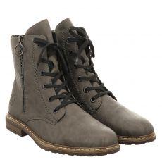 Rieker kurzer Kunstleder-Stiefel in grau für Damen