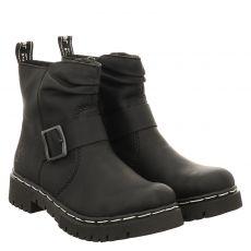 Rieker kurzer Kunstleder-Stiefel in schwarz für Damen