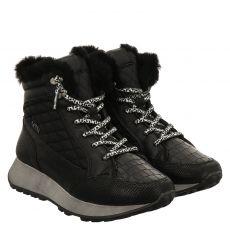 Cetti kurzer Glattleder-Stiefel in schwarz für Damen