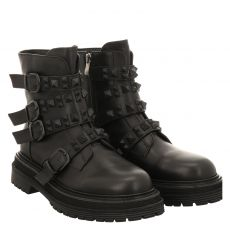 Alma En Pena kurzer Glattleder-Stiefel in schwarz für Damen