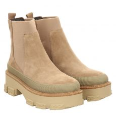 Alma En Pena kurzer Veloursleder-Stiefel in beige für Damen