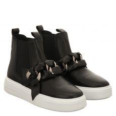 Kennel & Schmenger, Pro, kurzer Glattleder-Stiefel in schwarz für Damen