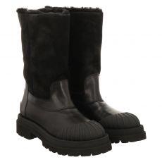 Kennel & Schmenger, Studio, kurzer Glattleder-Stiefel in schwarz für Damen