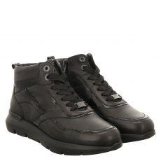 Hassia, Bordea, Glattleder-Fußbettschuh in schwarz für Damen