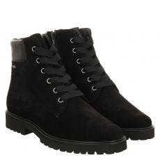 Hassia, Meran, Veloursleder-Fußbettschuh in schwarz für Damen