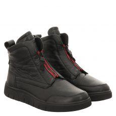 Ara, Rom, kurzer Glattleder-Stiefel in schwarz für Damen
