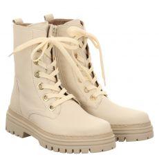 Gabor, Weiß, kurzer Glattleder-Stiefel in beige für Damen