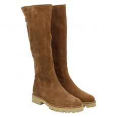 Gabor, Schaftweite M, hoher Veloursleder-Stiefel in braun für Damen