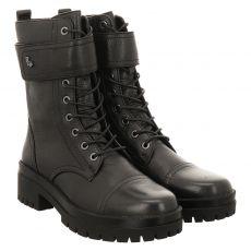 Regarde Le Ciel kurzer Glattleder-Stiefel in schwarz für Damen
