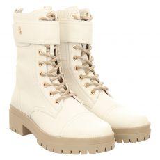 Regarde Le Ciel kurzer Glattleder-Stiefel in weiß für Damen