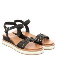 Inuovo Glattleder-Sandalette in schwarz für Damen