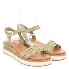 Inuovo Glattleder-Sandalette in grün für Damen
