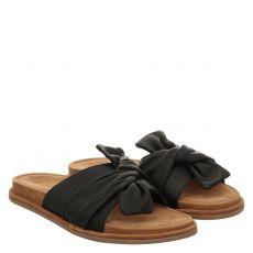 Inuovo Glattleder-Pantolette in schwarz für Damen