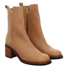 Fraipe kurzer Glattleder-Stiefel in beige für Damen