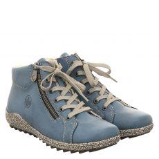 Rieker kurzer Kunstleder-Stiefel in blau für Damen