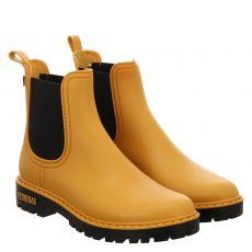 Verbenas kurzer Gummi (synth.)-Stiefel in gelb für Damen