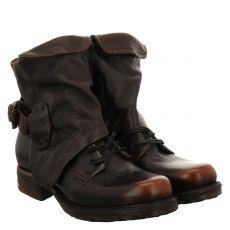 As 98 (airstep), Saintmetal, kurzer Glattleder-Stiefel in braun für Damen