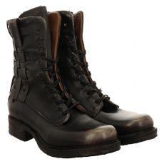 As 98 (airstep), Saintec, kurzer Glattleder-Stiefel in schwarz für Damen