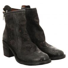As 98 (airstep), Jamal, kurzer Glattleder-Stiefel in schwarz für Damen