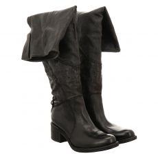 As 98 (airstep), Opea, hoher Glattleder-Stiefel in schwarz für Damen