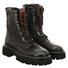 As 98 (airstep), Heaven, kurzer Glattleder-Stiefel in schwarz für Damen