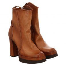 As 98 (airstep), Vivent, kurzer Glattleder-Stiefel in braun für Damen