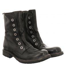 Moma kurzer Glattleder-Stiefel in schwarz für Damen