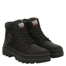 Palladium sportiver Fettleder-Stiefel in schwarz für Herren