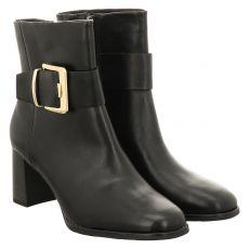 Marco Tozzi kurzer Kunstleder-Stiefel in schwarz für Damen