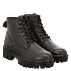 Tamaris kurzer Glattleder-Stiefel in schwarz für Damen